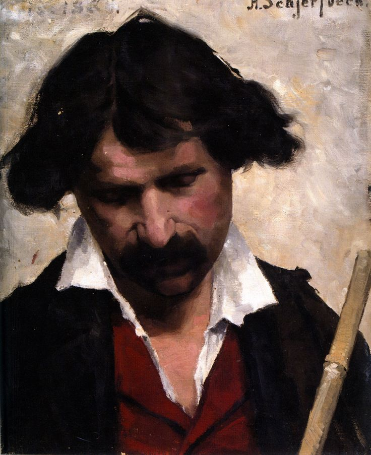 Helene Schjerfbeck Miehen Muotokuva (Portrait of a Man) 1880