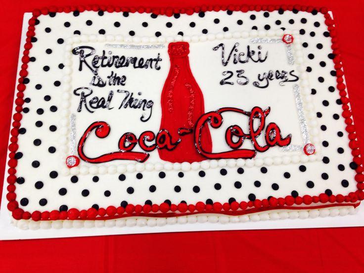 Coca Cola Birthday Cake