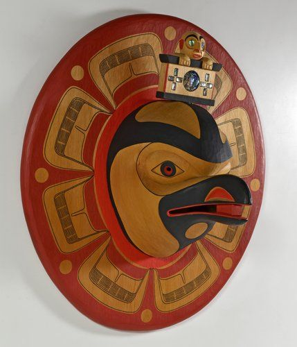 """Raven and the Light"" (1992) by Lyle Wilson, Haisla artist (X110706)"