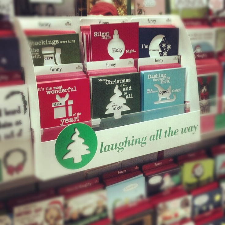Spilled ink press holiday cards at Target stores