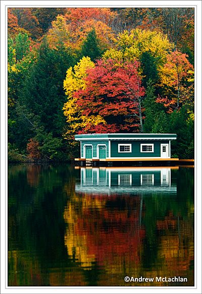 Boat house in the Muskoka's in the fall!