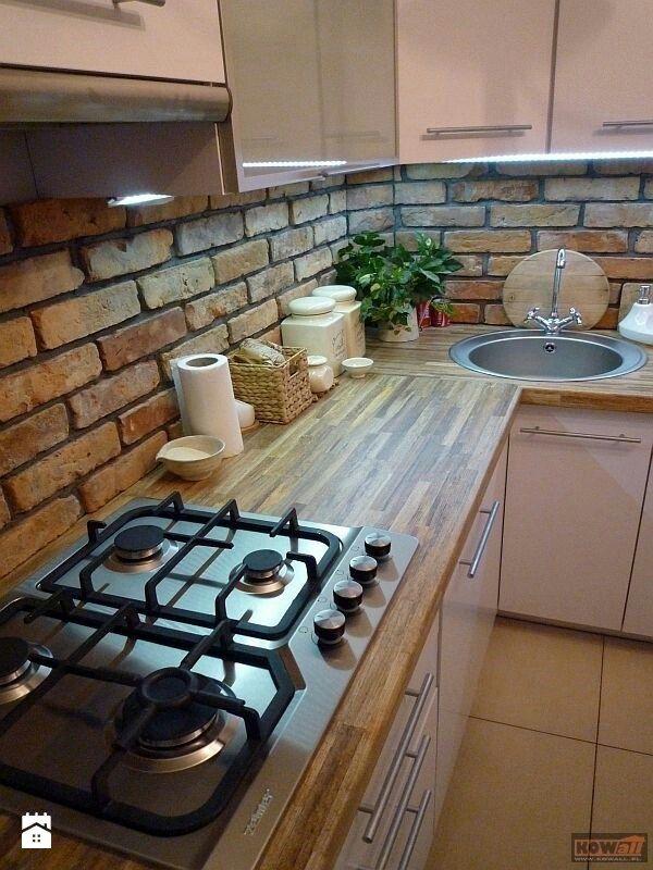 Płytki z cegły - zdjęcie od www.starecegly.com - Kuchnia - Styl Nowoczesny - www.starecegly.com