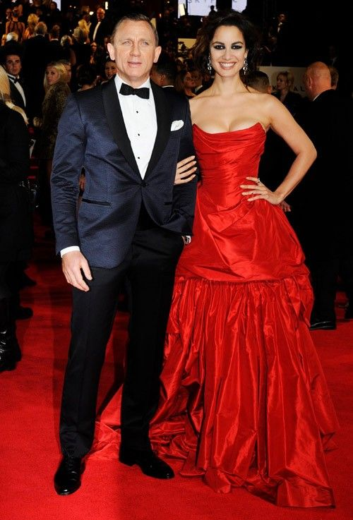 Daniel Craig  and   Berenice Marlohe  arrive for the world premiere of `Skyfall` at the Royal Albert Hall in London