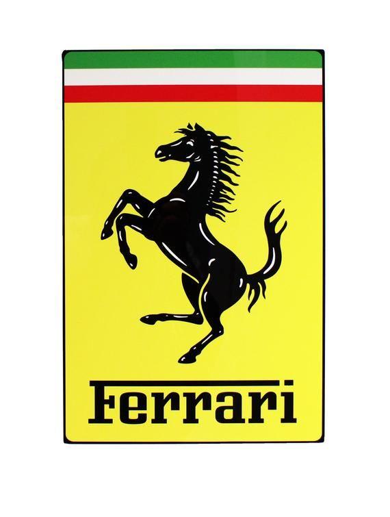 Ferrari Metal Sign Nose Badge Style In 2020 Ferrari Ferrari