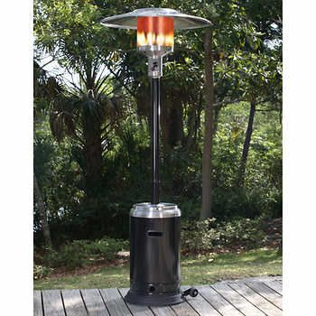 Paramount® Black and Stainless Steel Full Size Propane Patio Heater
