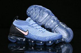 8dd9b8ea353be Nike Vapormax 2. 0 Gym Blue Pink Black 942842-401 Mens Womens Running Shoes