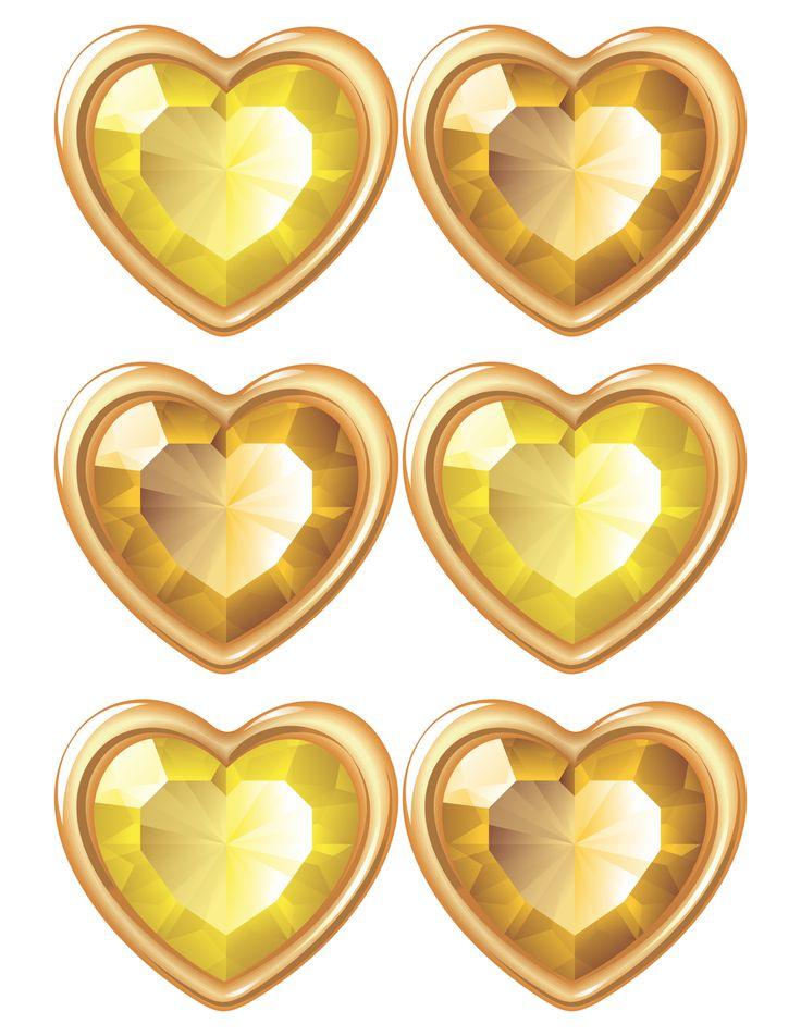 large gold gems