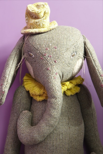 Lovely elephant by Désaccord / #stuffies #stuffed_animals