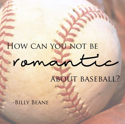 Moneyball<3 this is perfect. I love everything about the game. The team, strategy, fans, atmosphere. Everything. It's a huge part of who I am and consumes my life for a good chunk of the year.