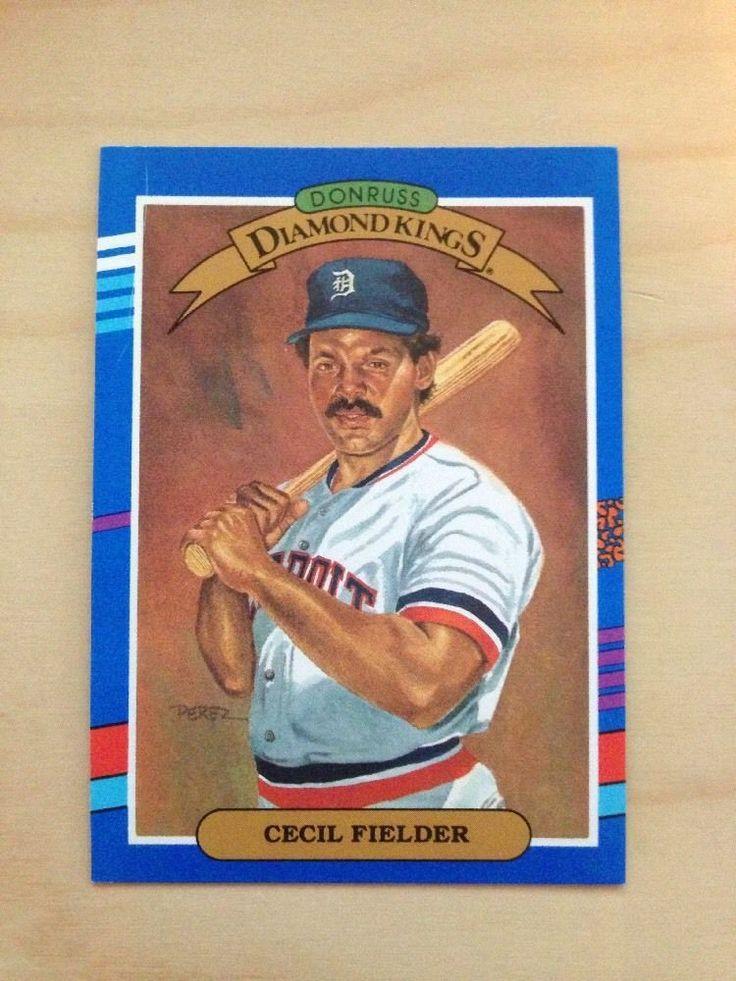 1991 Donruss Diamond Kings Baseball Card 3 CECIL FIELDER