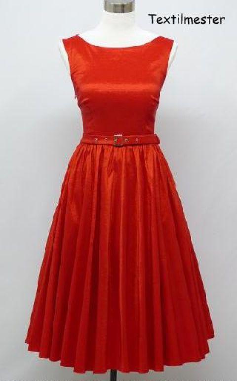 Rockabilly stílusú selyem ruha  Menyecskeruha, Ruha, divat, cipő, Esküvő, Női ruha, Menyasszonyi ruha, Varrás, Meska