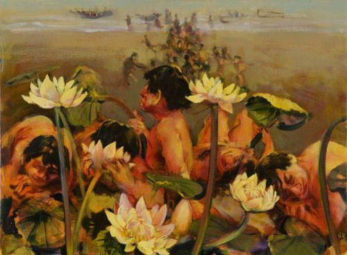 ulysses and the lotos eaters and 'the lotos-eaters' is based on a portion of homer's odyssey in which odysseus's  men are fed lotos plants and become mesmerized.