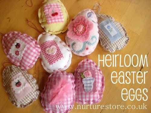 I love these, have some of your kids old baby clothes saved. Use them to make these eggs then hang them from a little tree. So cute!!!