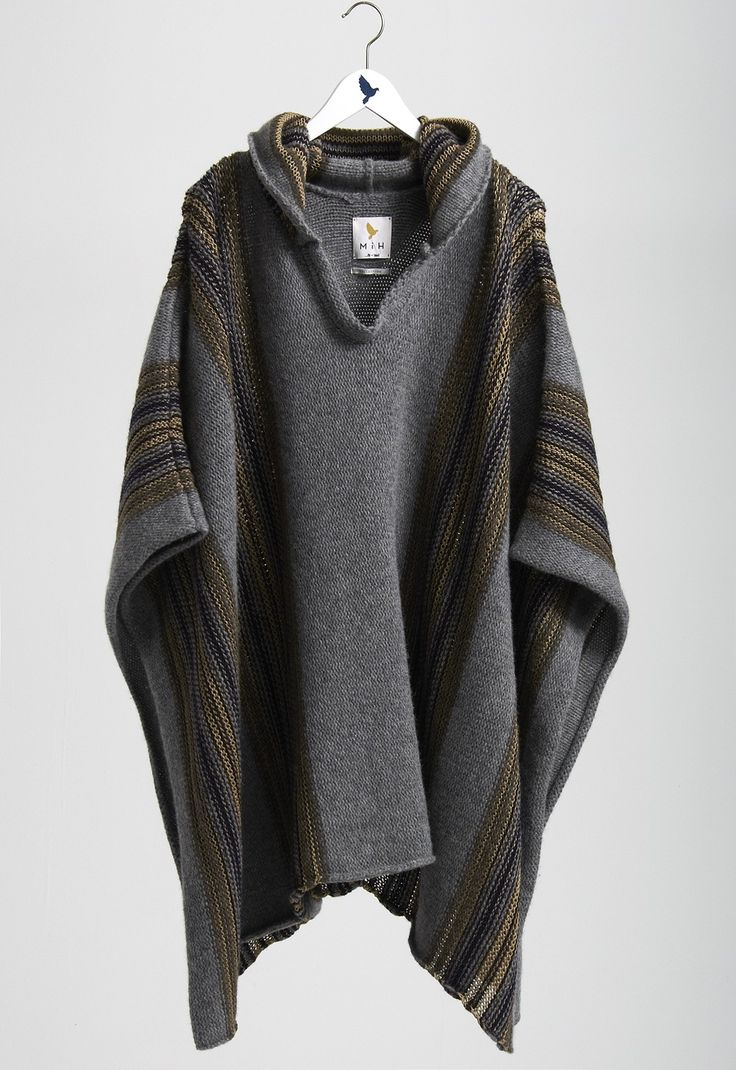 The PONCHO - KNITTED CAPE WITH HOOD - MiH