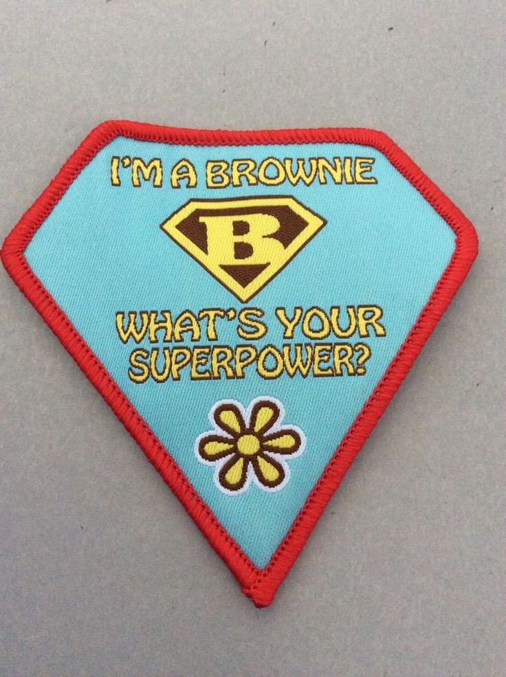 What's Your Superpower Fun Badge - Brownies