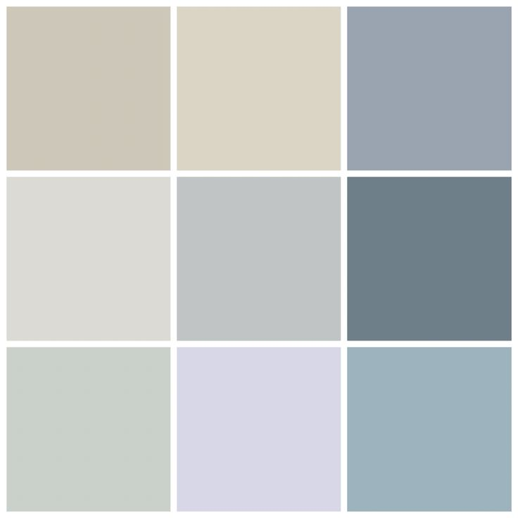 Whole house Benjamin Moore color scheme: Revere Pewter (foyer), Edgecomb Gray (kitchen/living), Comet (dining), Solitude (bathrooms), Eternity (master), Normandy (master bath), Quiet Moments (kids' bathroom), Lavender Ice (girl's room), Slate Blue (boy's room)