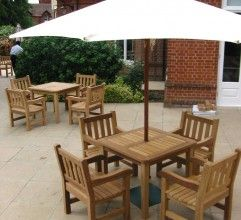 Standard Dining Table, wooden garden tables and hardwood outdoor bistro bar tables, Manufacturers, Yorkshire, UK