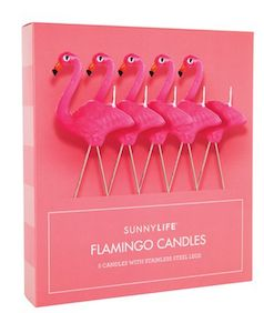 Flamingo candles - great idea for a summer birthday
