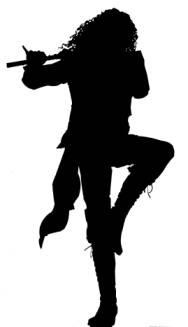 Ian Anderson silhouette for Jethro Tull - my all time favorite band!!