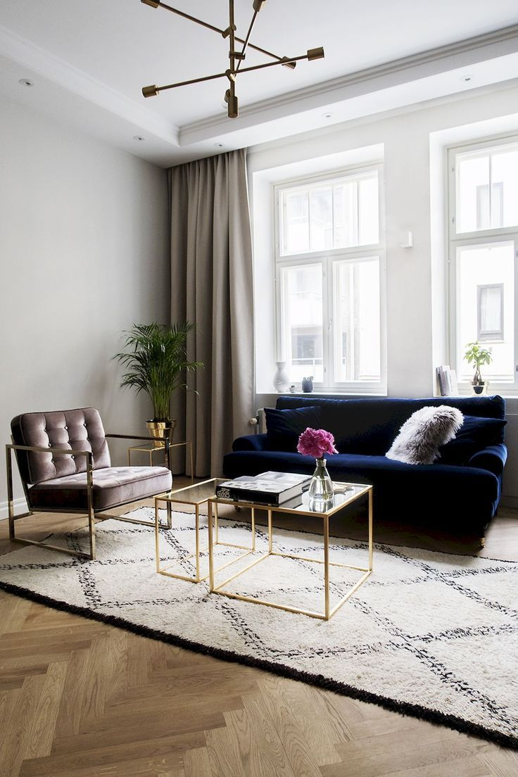 Gorgeous 140 Stunning Apartment Decorating Ideas And Makeover Coachdecor Com Apartment Co Blue Sofas Living Room Studio Apartment Decorating Home Decor