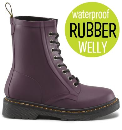 Purple/White Wellington Boots With Mock Eyelet Holes YIqzYoFRrf