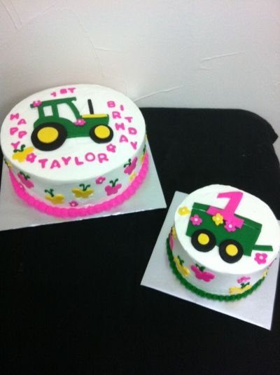 Pink John Deere Cake!