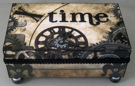 Keepsake Box (another pinner said a cigar box, but this definitely would not work as a humidor). Beautiful! I love this