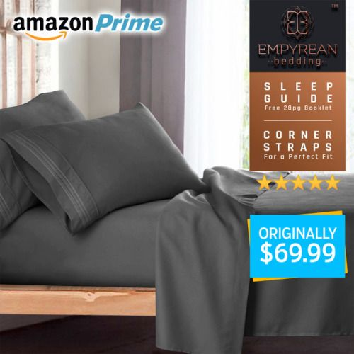 Enter To Win A Free Queen Gray Luxury Bed Sheet Set A New