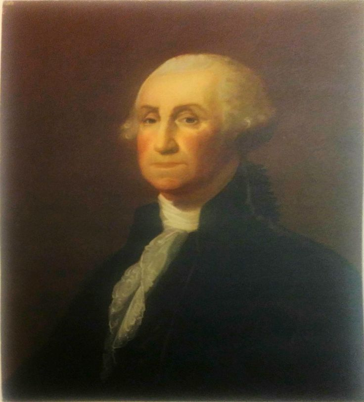 After Gilbert Stuart (1732-1799) George Washington Vintage Lithograph Rode and Brand NYC