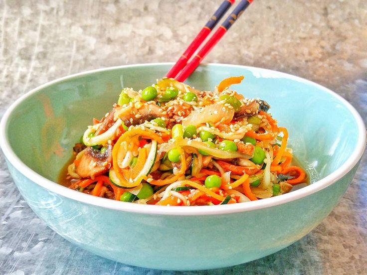 Klunker's Plant-Based Kitchen: Asian zucchini noodles