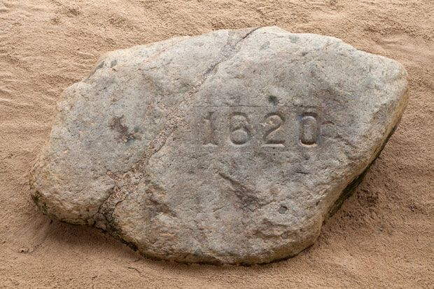 Plymouth Rock, was expecting a huge rock...nope .. not big at all
