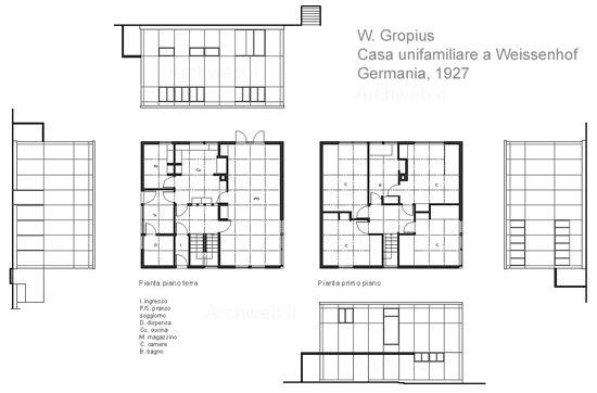 Weissenhof siedlung werkbund stuttgart 19 c 1927 - Casa unifamiliare dwg ...