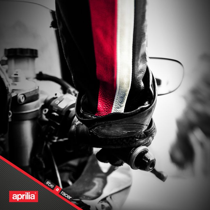 Turn the handle towards you. www.aprilia.com  #aprilia #bearacer