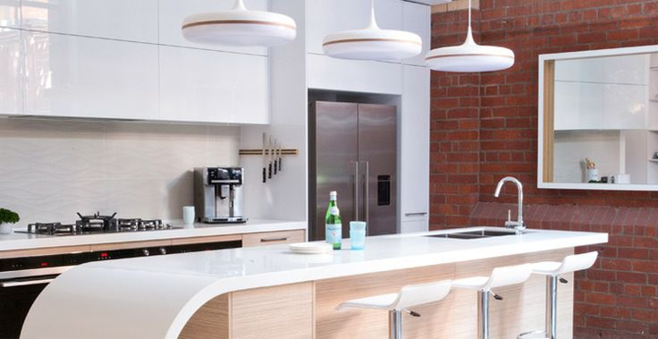 Brad and Dale's The Good Guys Kitchen from The Block - luxurious and functional. #TheGoodGuys #TheBlock #Kitchen