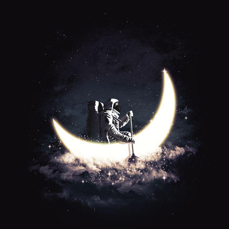 """Moon Sailing"" design up for voting at Threadless pelase vote 5 guys! Thankshttps://www.threadless.com/designs/moon-sailing-2"