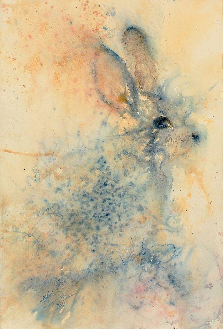Coniglio Luigi Barra 2016 56 x 37,5 cm Watercolor on cotton paper  www.facebook.com/watercolourluigibarra