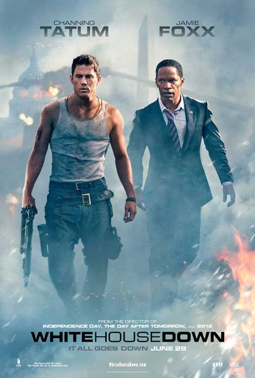 White House Down (2013) When a paramilitary group engineers a violent takeover of the White House, the president must try to hide from the attackers until he can be rescued. Caught up in the chaos, Secret Service agent John Cale ends up becoming his sole protection. Cast:Channing Tatum, Jamie Foxx...Action
