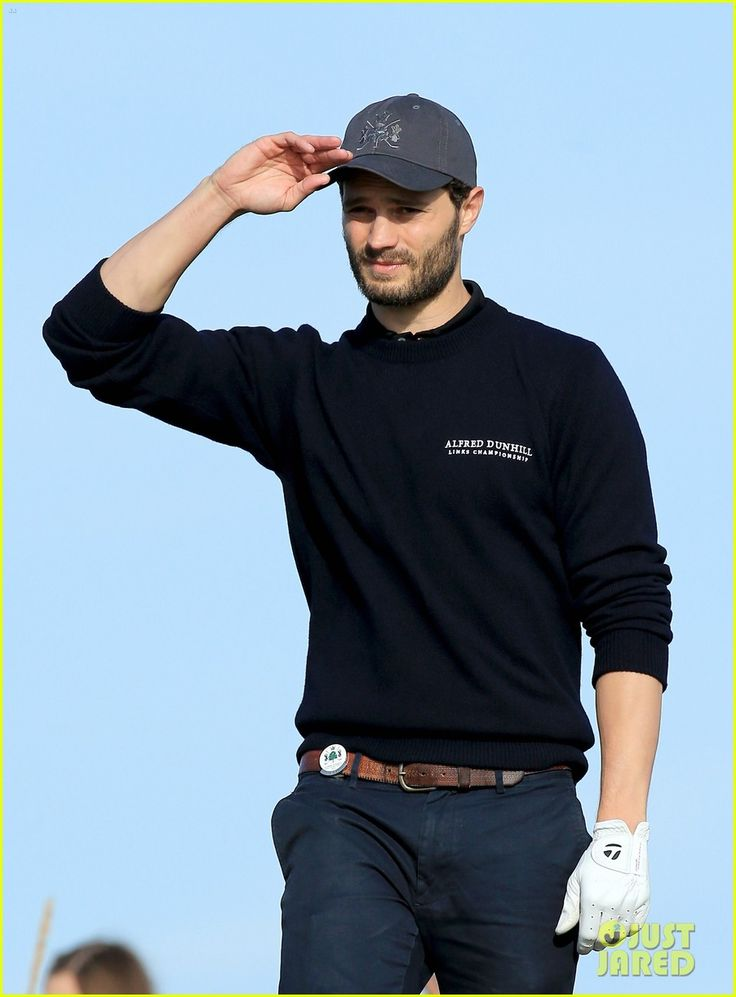 Jamie Dornan Plays a Round of Golf with Other Celebs - See