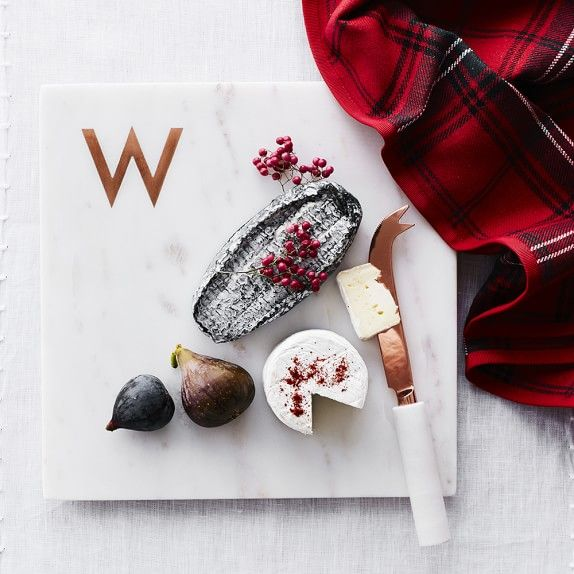 Marble & Copper Monogram Boards | Williams-Sonoma