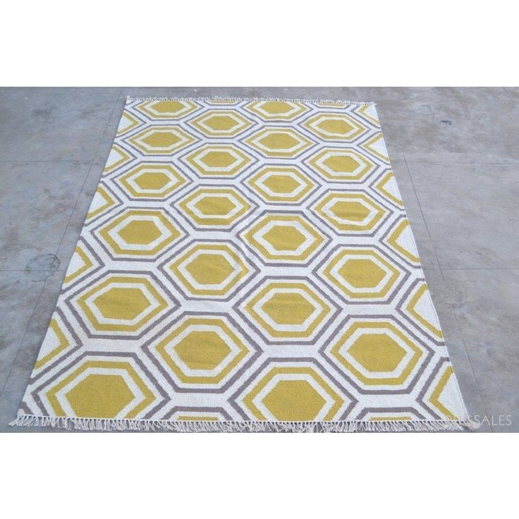 $120 Handwoven Kilim Rug - SDN - 1036 - Yellow | Rugs Online