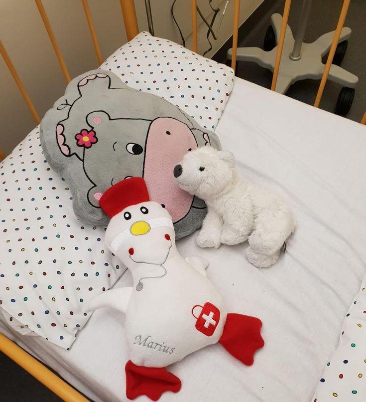 Die Krankenhaus Ente kam gut an. Sie durfte gleich mit ins