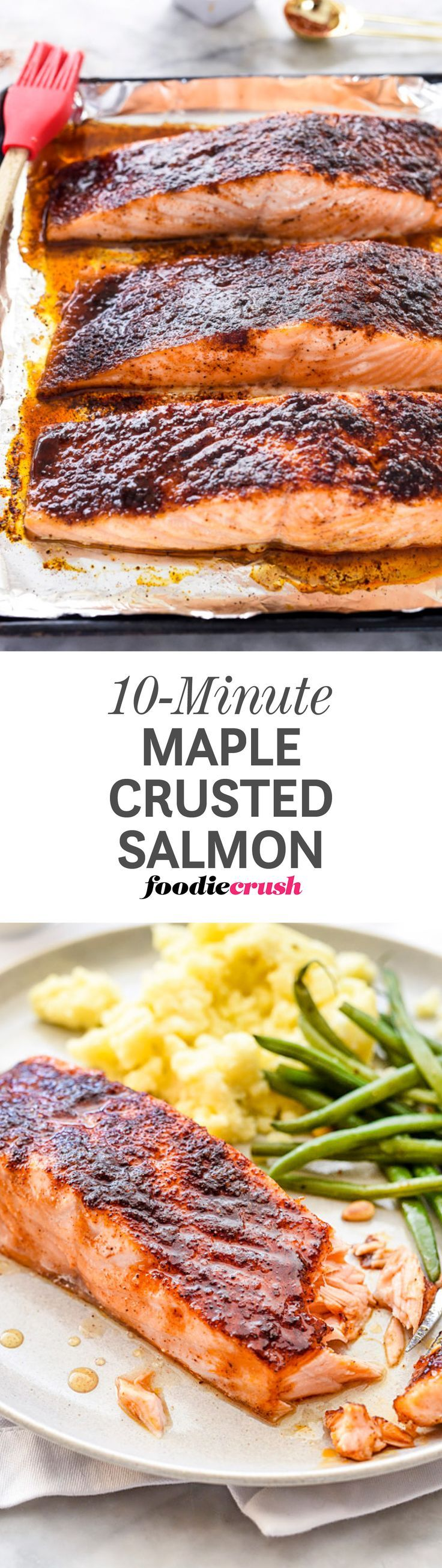 10minute Maplecrusted Salmon