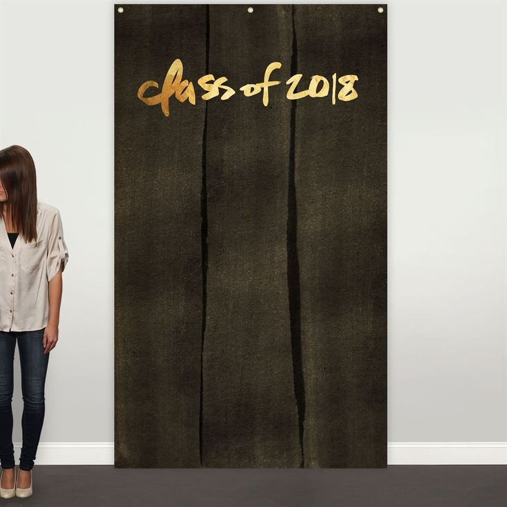 Pear Tree Cards are designed to stand out from the rest! Personalize the Black-Washed Kraft & Faux Foil Photo Backdrop Graduation Party Deco with your...