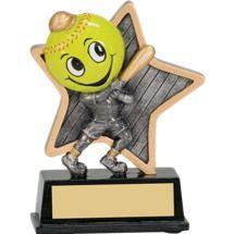 "Softball Trophy - 5"" Little Pal Softball Resin Award"