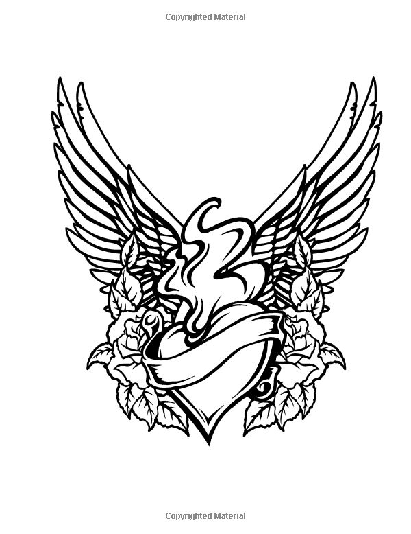 This is a graphic of Wild Tattoo Coloring Page