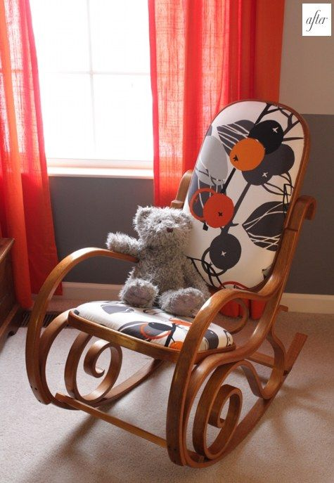 Rocking Chair refurbish my mawmaw has this chair hidden collecting dust.i think I need to see if she will let me give it a makeover