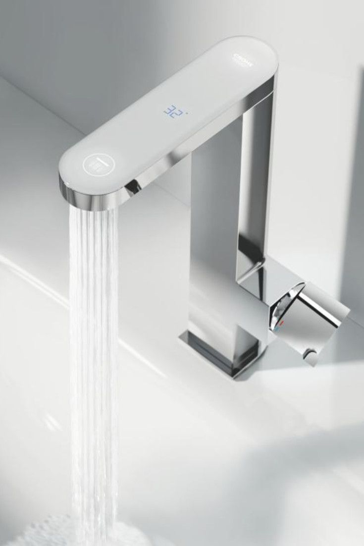 Grohe Plus Die Waschtischarmatur Mit Digitalem Led Display In L