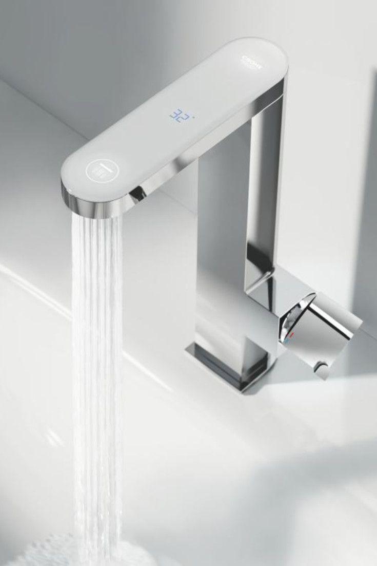 Grohe Plus Einhand Waschtischbatterie Mit Digitalem Led Display L Size 23959003 Led Aufsatzwaschtisch Waschtischarmatur