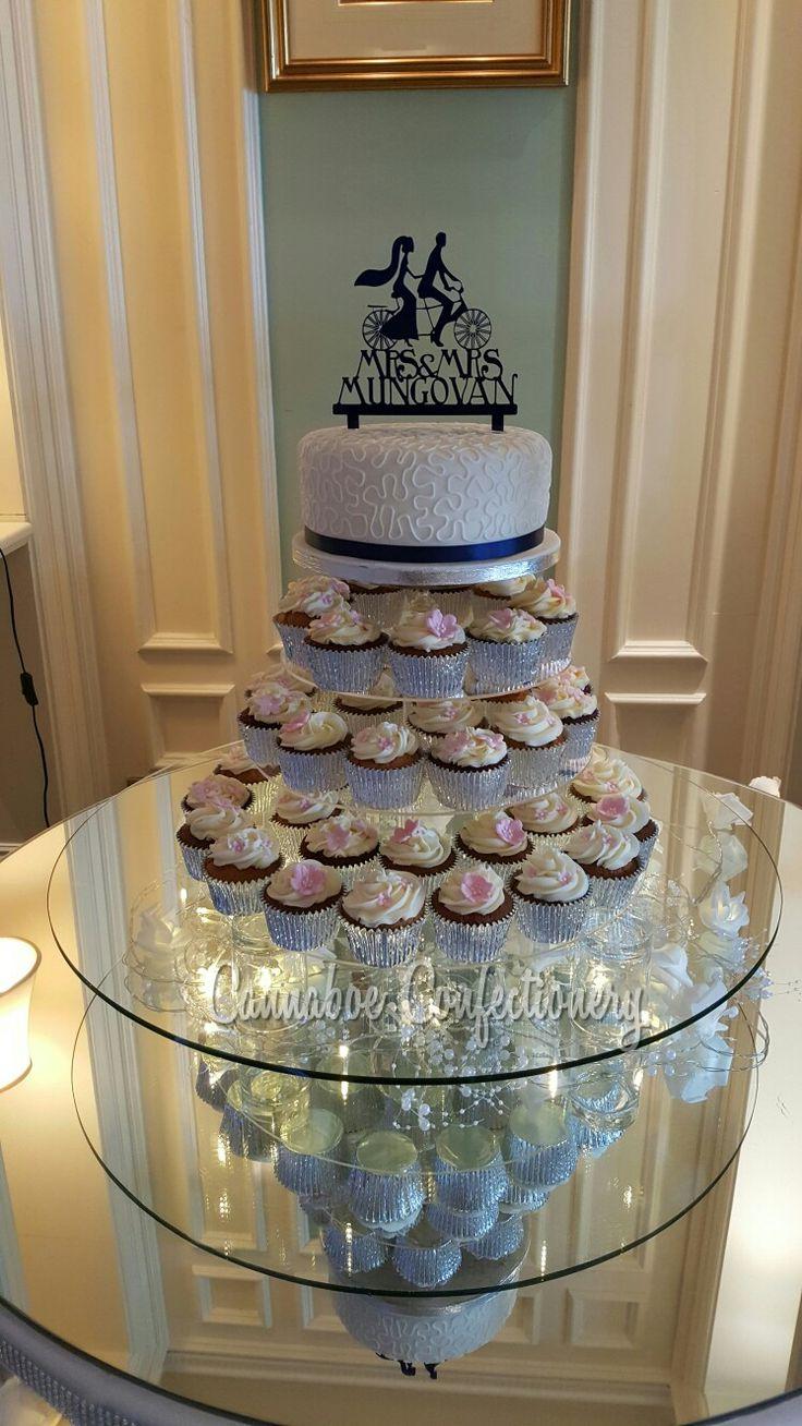 Wedding cupcake tower at @thelandmarkhotel