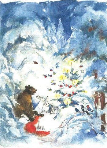 Another sweet Christmas card by Maija Karman